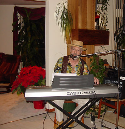 RonnyD Performing At A Private Party With A Hawaiian Theme